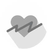Stop heart icon